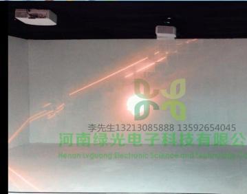 杭州大中银泰城售楼部多媒体河南投影机拼接,投影机融合