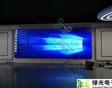 河南鹤壁农信通集团,郑州投影机拼接融合,展厅多媒体,展馆